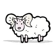 cartoon sheep - stock illustration