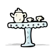 Stock Illustration of cartoon cup and saucer