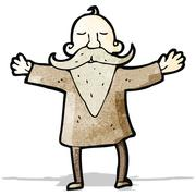 Cartoon man with impressive beard Stock Illustration