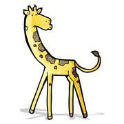 Stock Illustration of cartoon giraffe