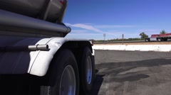 Big rig truck ,tanker truck parked Stock Footage