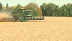 Wheat harvesting with combine 010 - stock footage