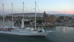Athens Greece Wind Star Sail yacht sunrise time lapse 4K Stock Footage