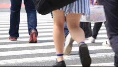 People walking in Shinjuku area, Tokyo, Japan Stock Footage