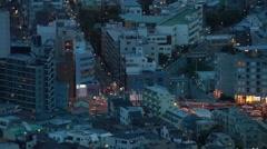 Night view from Tokyo Metropolitan Government Building in Shinjuku, Tokyo, Japan - stock footage