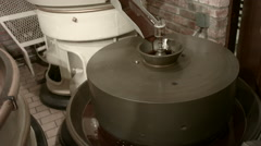 Industrial chocolate machine mixing 4 Stock Footage