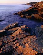 Atlantic Ocean, Acadia National Park, Maine, USA - stock photo