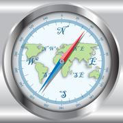 compass - stock illustration