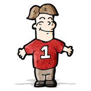 Stock Illustration of cartoon man in sports shirt