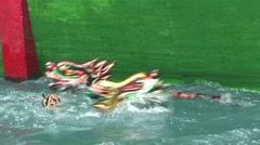Vietnam puppet show Stock Footage