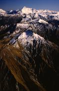 Mt. Aspiring & Southern Alps, South Island, New Zealand - stock photo