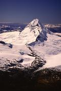 Mt. Aspiring and Southern Alps, Mt. Aspiring National Park, New Zealand - stock photo