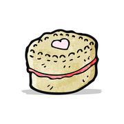Stock Illustration of cartoon biscuit