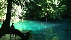 Splash at the Blue lagoon Stock Footage