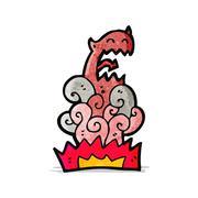 Cartoon devil appearing Stock Illustration