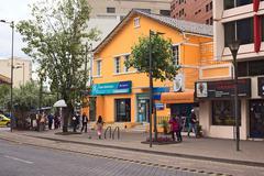Banco bolivariano on amazonas avenue in quito, ecuador Stock Photos