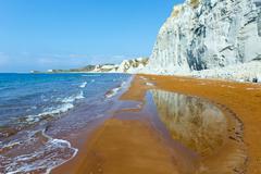 xi beach morning view (greece, kefalonia). - stock photo