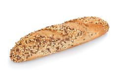 Freshly baked multigrain bread and wheat Stock Photos