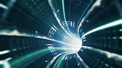 Animated wormhole tunnel loop Stock Footage
