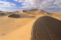 Sand Dunes, Grand Erg Oriental, Sahara Desert, Algeria Stock Photos