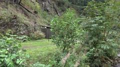 4k Gastronomy tourism destination pan in low mountain range Harz Stock Footage