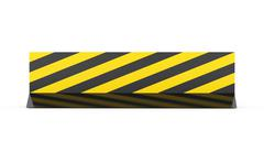 Yellow road barrier rendered isolated on white background Stock Illustration