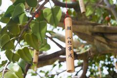 Wishing tree is ngong ping villeage, lantau island, hong kong, china Stock Photos