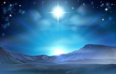 Christmas nativity star of bethlehem Stock Illustration