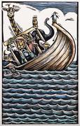 Illustration of Noah's Ark - stock illustration