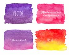 Stock Illustration of Wet Watercolor Ombre Backgrounds. Hand Painted.
