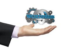 wordpress businessman - stock illustration