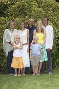 Family Portrait Outdoors Stock Photos