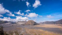 Cloudscape Time Lapse at Mount Bromo and Mount Batok during daylight. Bromo Teng Stock Footage