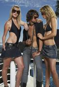 Man with Two Women Stock Photos