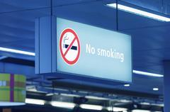 No Smoking Sing - stock photo