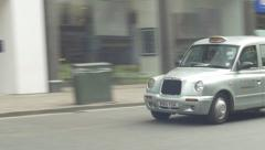 Ungraded London Taxi Driving By 4K Stock Footage