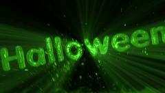Halloween - Slimey Title Animation Stock Footage