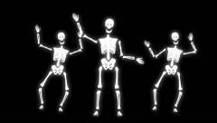 Halloween - Skeletons Dancing Arkistovideo