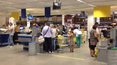 Interior of ikea store - Naples Stock Footage