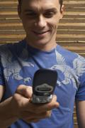 Man Using Cellular Phone - stock photo