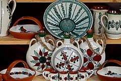 Traditional pottery decorated Stock Photos