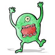 Stock Illustration of cartoon scary monster