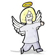 Stock Illustration of cartoon angel