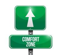 Comfort zone street sign illustration design Stock Illustration
