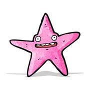 Stock Illustration of cartoon starfish