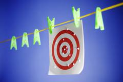 Target on Clothes Line Stock Photos
