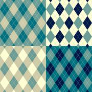 Seamless argyle pattern. diamond shapes background. vector set. Stock Illustration