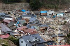 Japan Tsunami Disaster Stock Photos