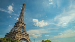 Eiffel Tower Time lapse Stock Footage