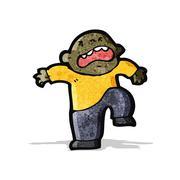 cartoon temper tantrum - stock illustration